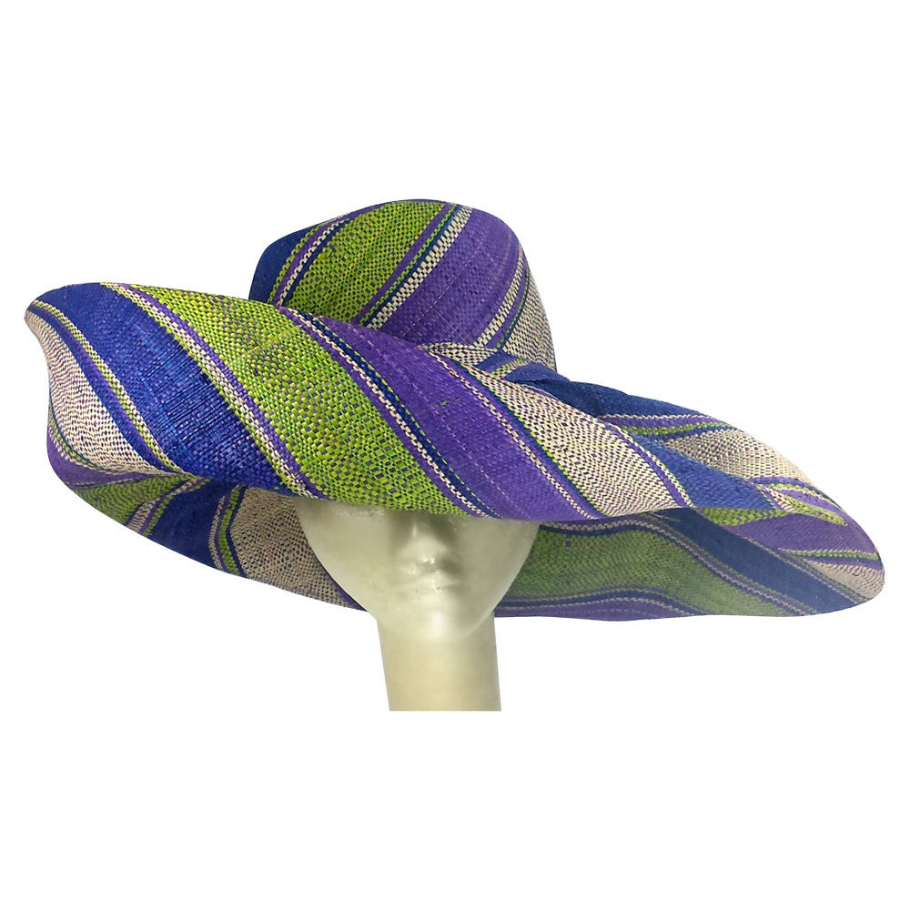 Chike: Hand Made Madagascar Big Brim Raffia Sun Hat