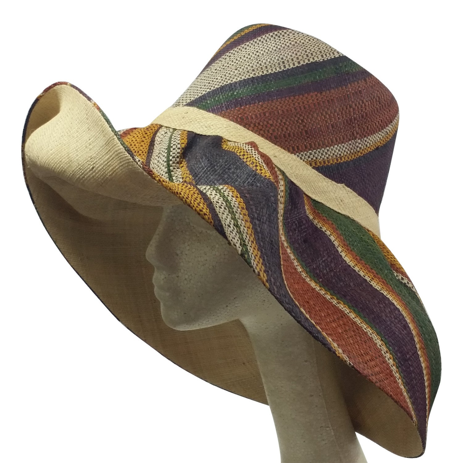 Chikere: Hand Made Big Brim Madagascar Raffia Sun Hat