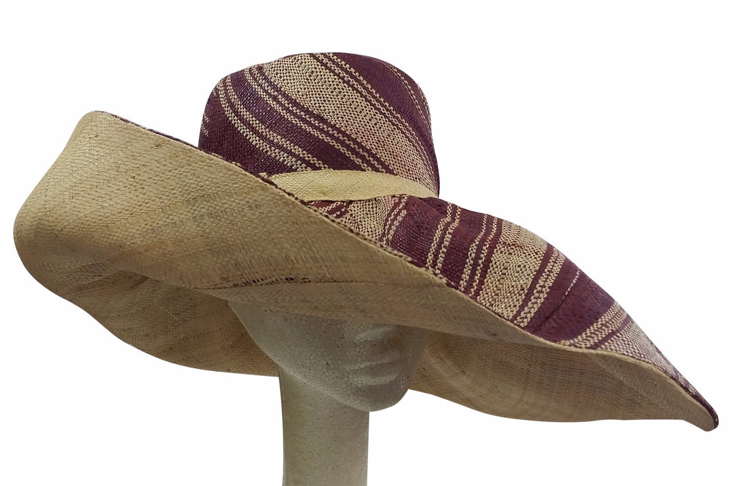 Desta: Hand Woven Multicolored Madagascar Big Brim Raffia Sun Hat