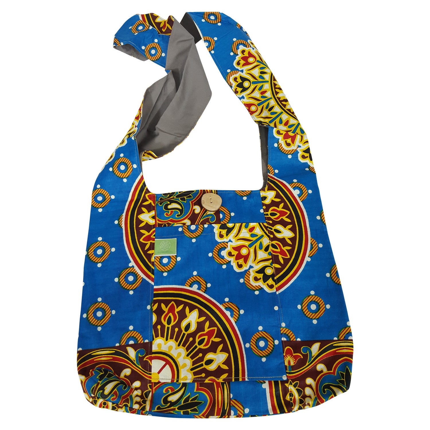Authentic African Fabric Cross Body Sling Bag by Timbali Crafts