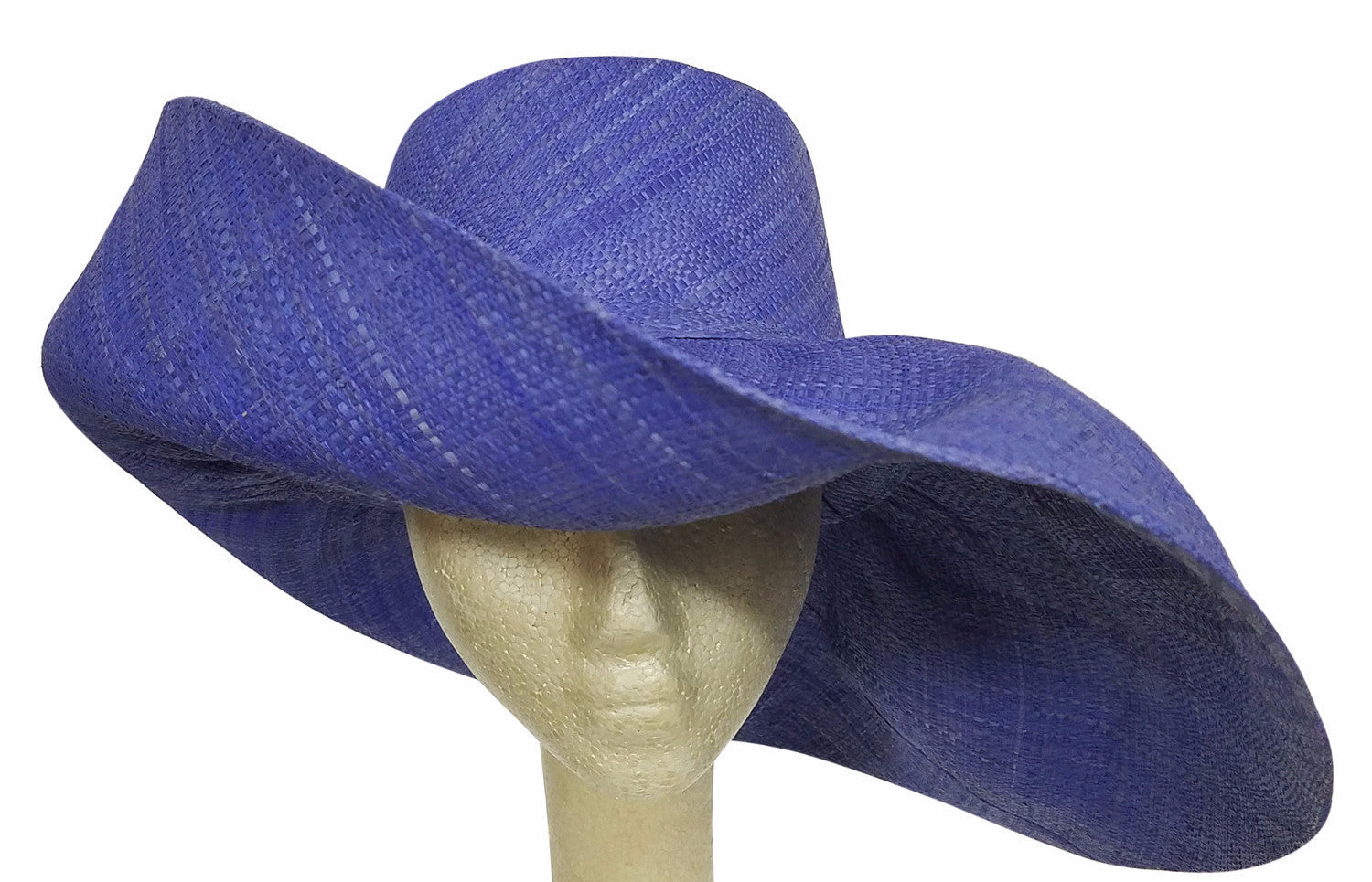 Afryea: Hand Made Purple Madagascar Big Brim Raffia Sun Hat