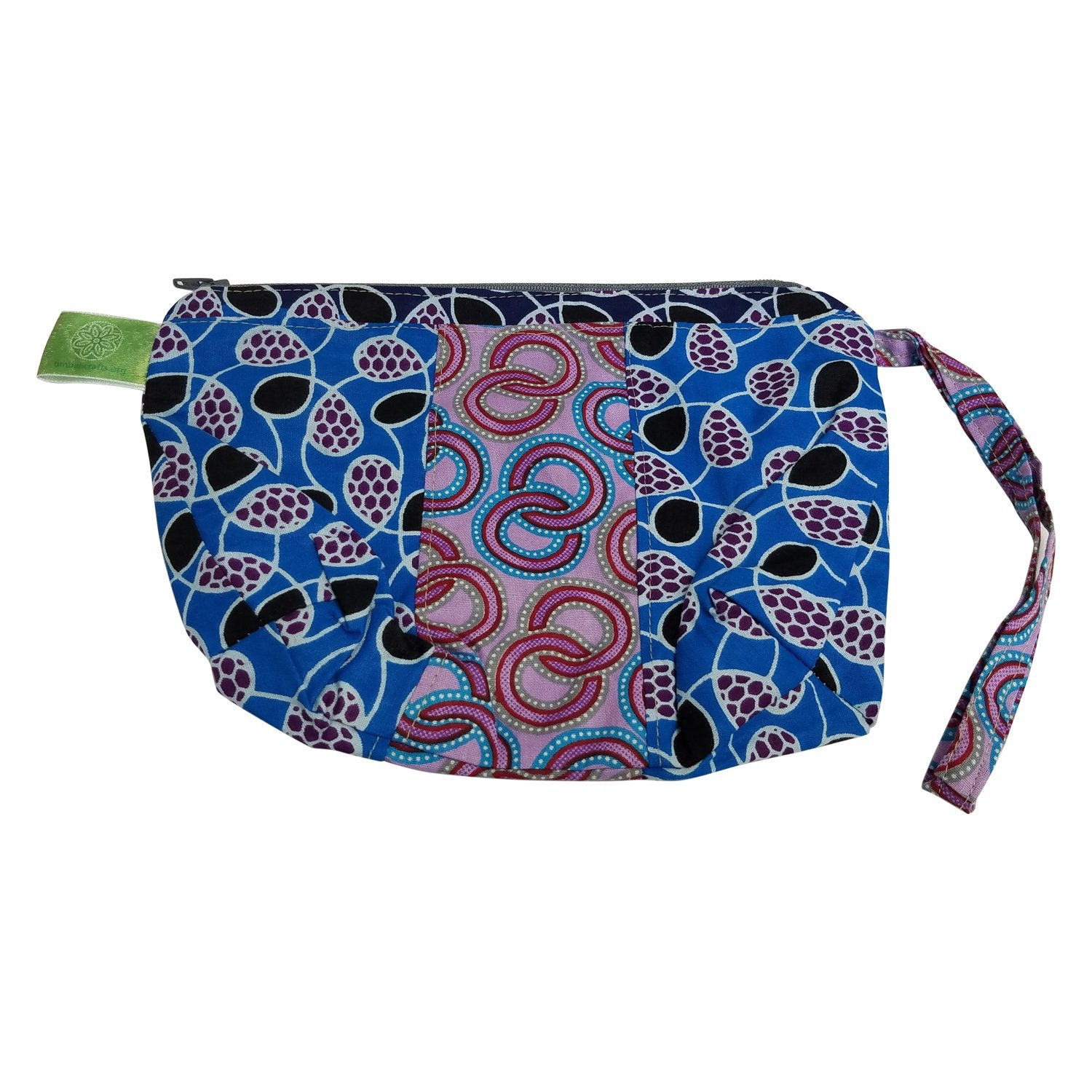 Malkerns: Authentic African Fabric Cosmetic Bag by Timbali Crafts