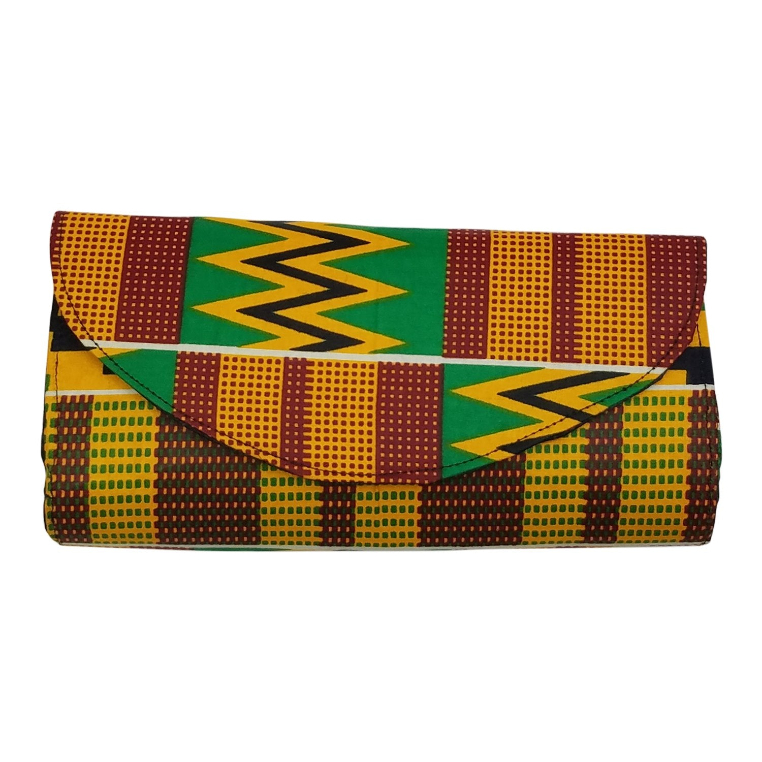 Authentic African Hand Made Ankara Clutch by Boutique Africa