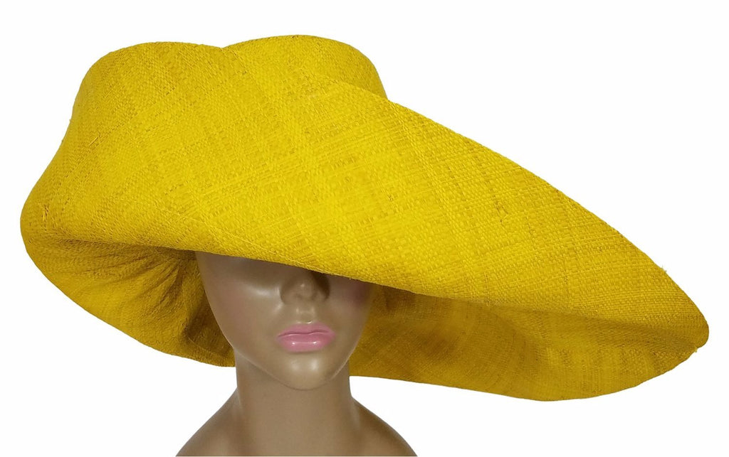 Onyeka Hand Made Big Brim Madagascar Raffia Sun Hat The Black Art