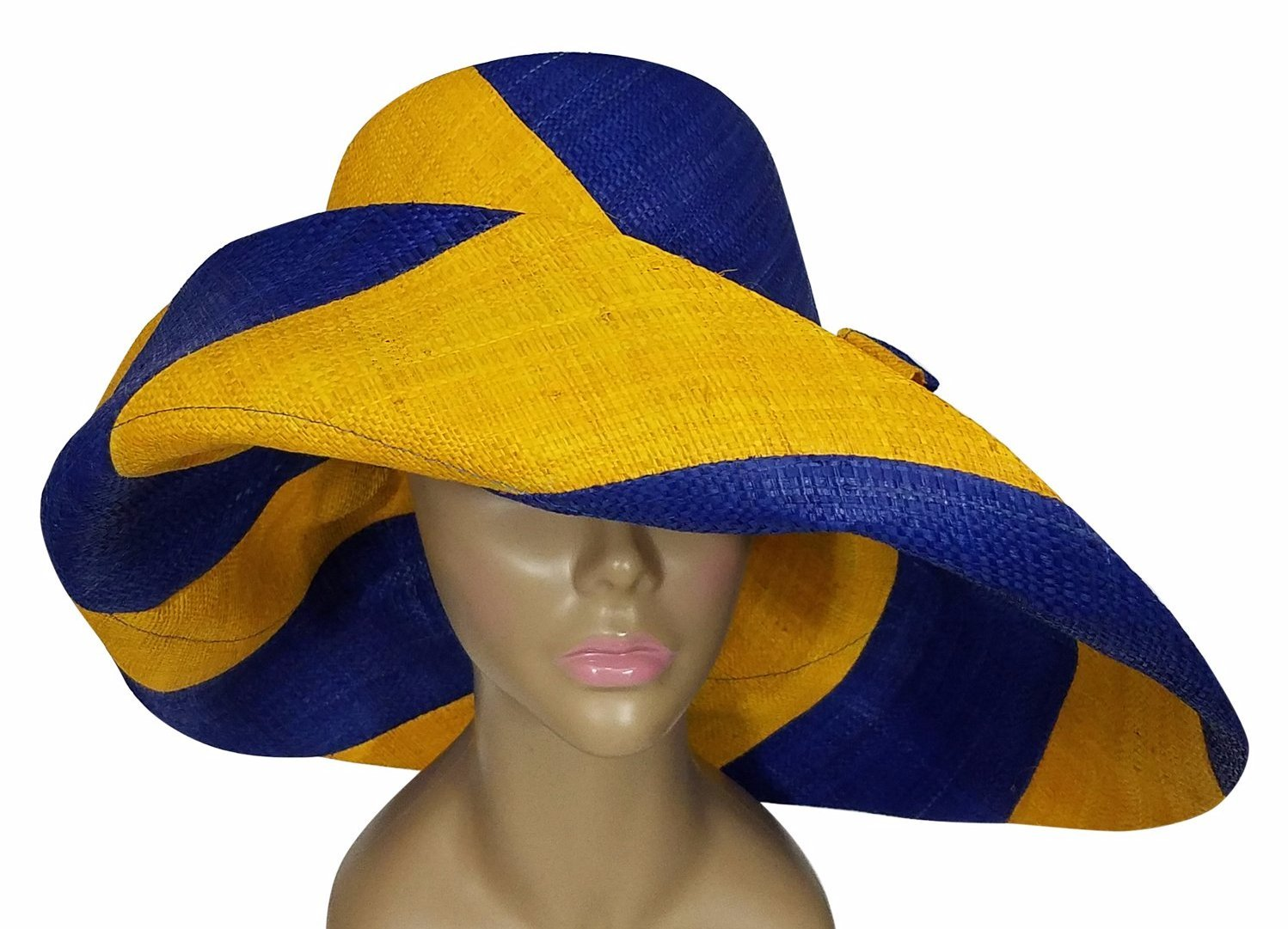 Sigma Gamma Rho Inspired Hand Made Multicolored Big Brim Raffia Sun Hat