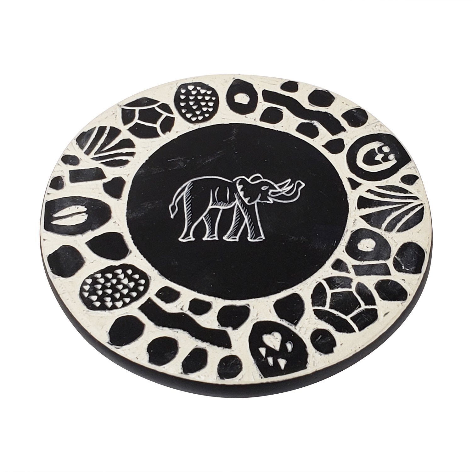 Authentic African Hand Made Soapstone Coaster Set (Kenya) by Boutique Africa