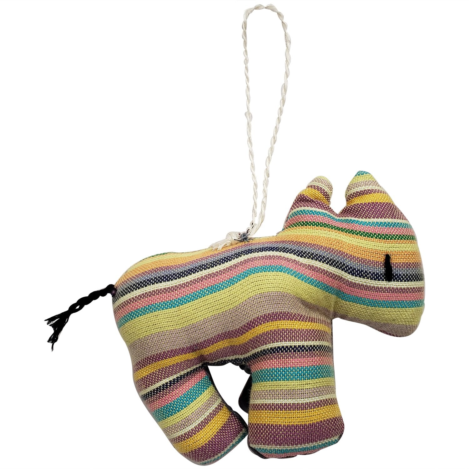 Rhino: Authentic Hand Made African Stuffed Animal Christmas Ornament (4.5 inches)