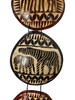 Authentic African Serengeti Gourd Slice Wall Hanging by Boutique Africa (Zebra)