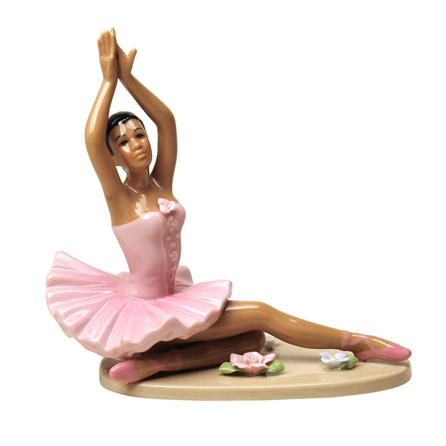 African American Ballerina in Pink Dress by Cosmos Gifts