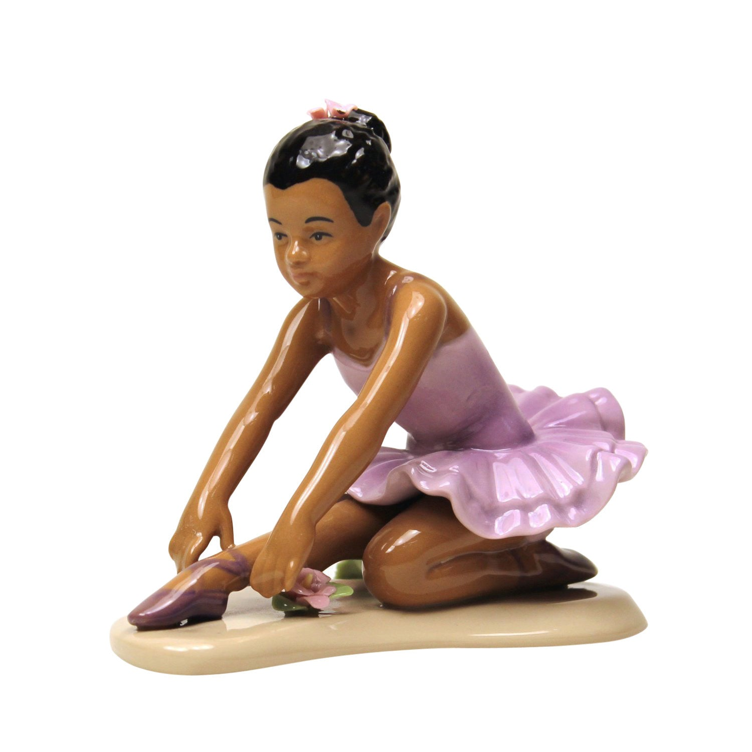 African American Little Ballerina in Lavendar by Cosmos Gifts