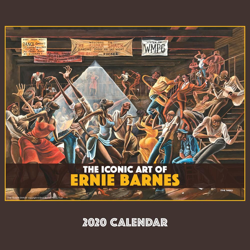 The Art of Ernie Barnes 2020 African American Wall Calendar (Front)