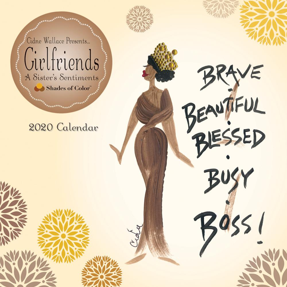 Brave, Beautiful & Blessed: The Art of Cidne Wallace 2020 Black Art Calendar (Front)