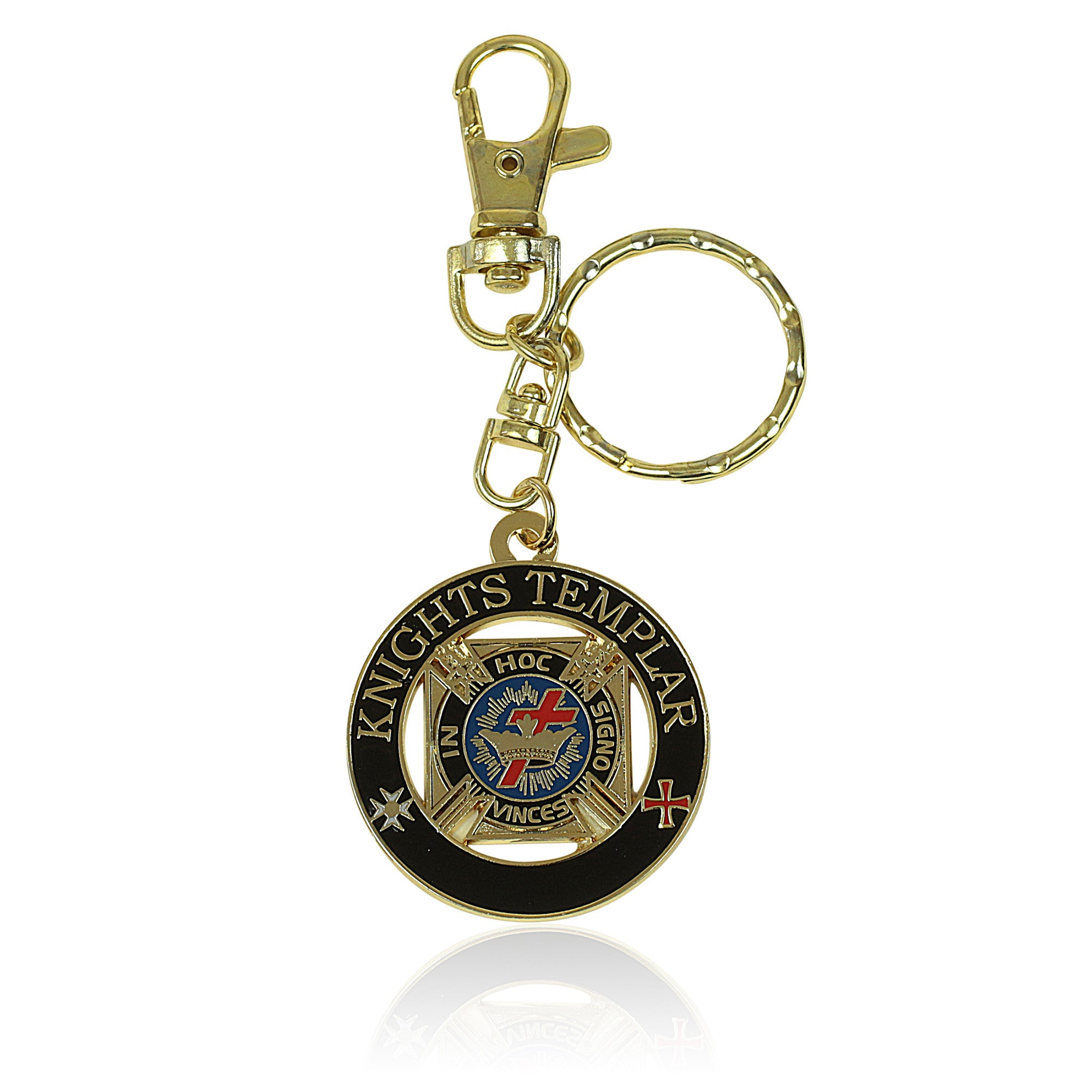 Knights Templar York Rite Masonic Key Chain