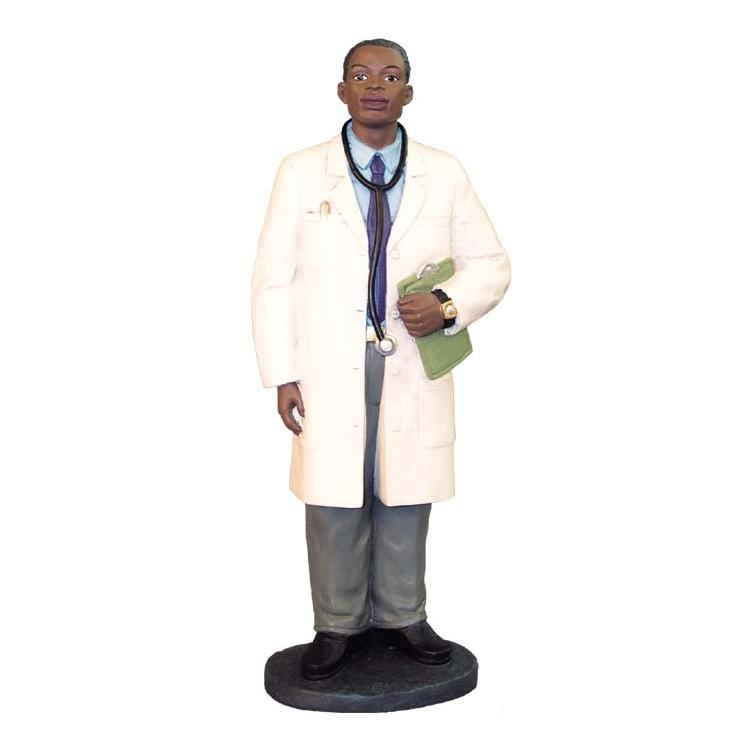 African American Male Doctor Figurine