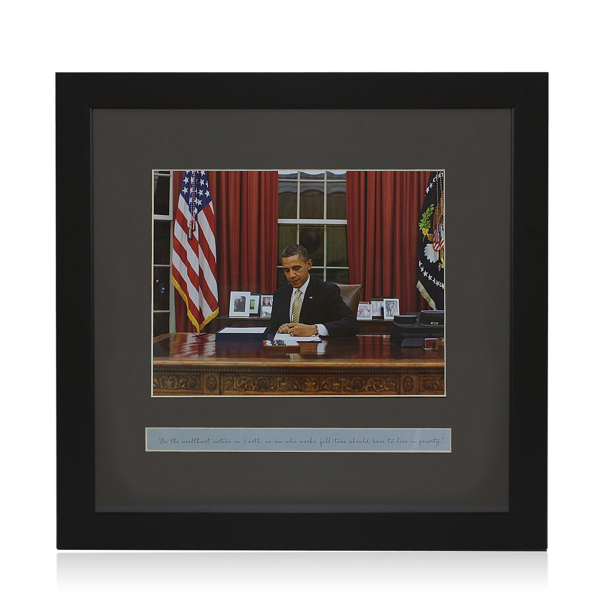 Truth About Poverty: Barack Obama (Framed Art Print)
