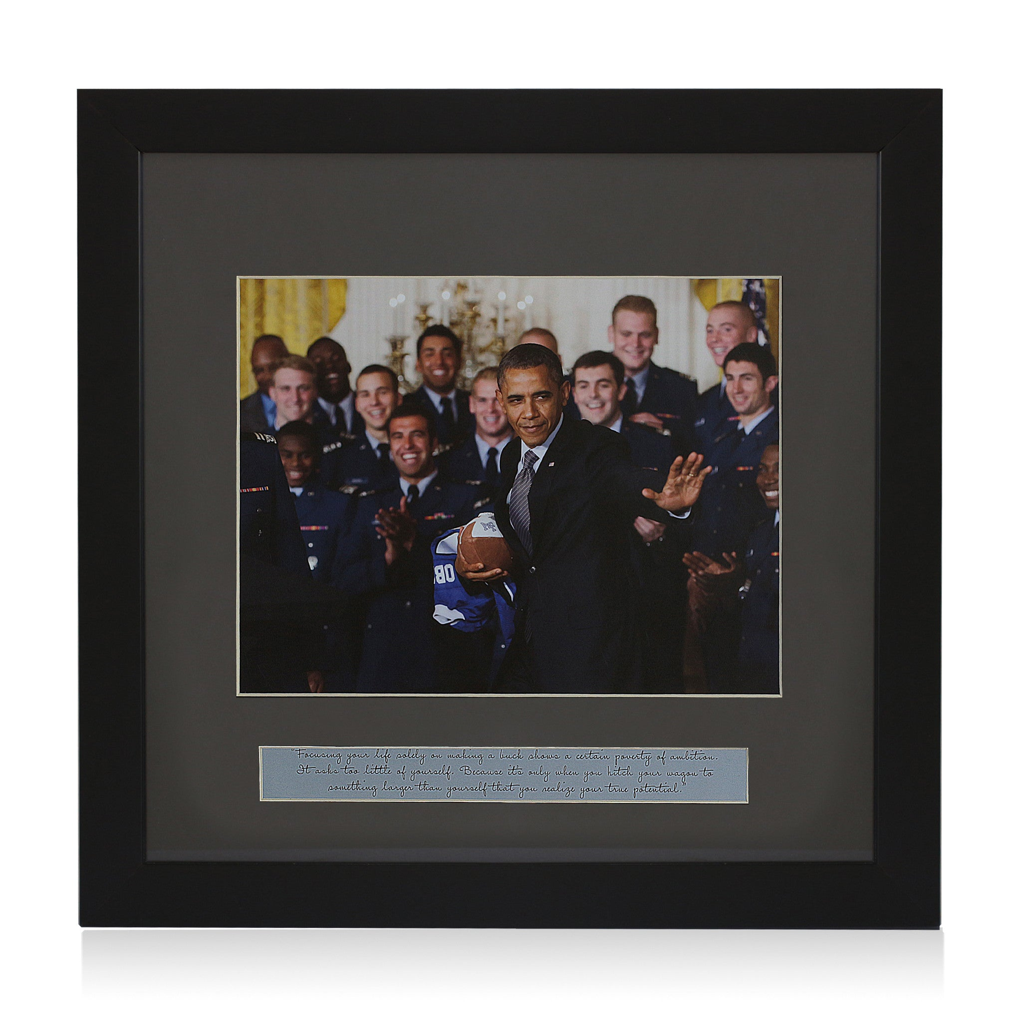 Your True Potential: Barack Obama (Framed Art Print)
