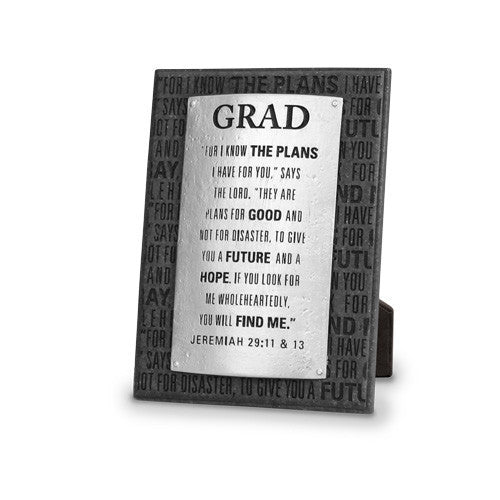 Graduation Plaque: Badge of Faith Series by LCP Gifts