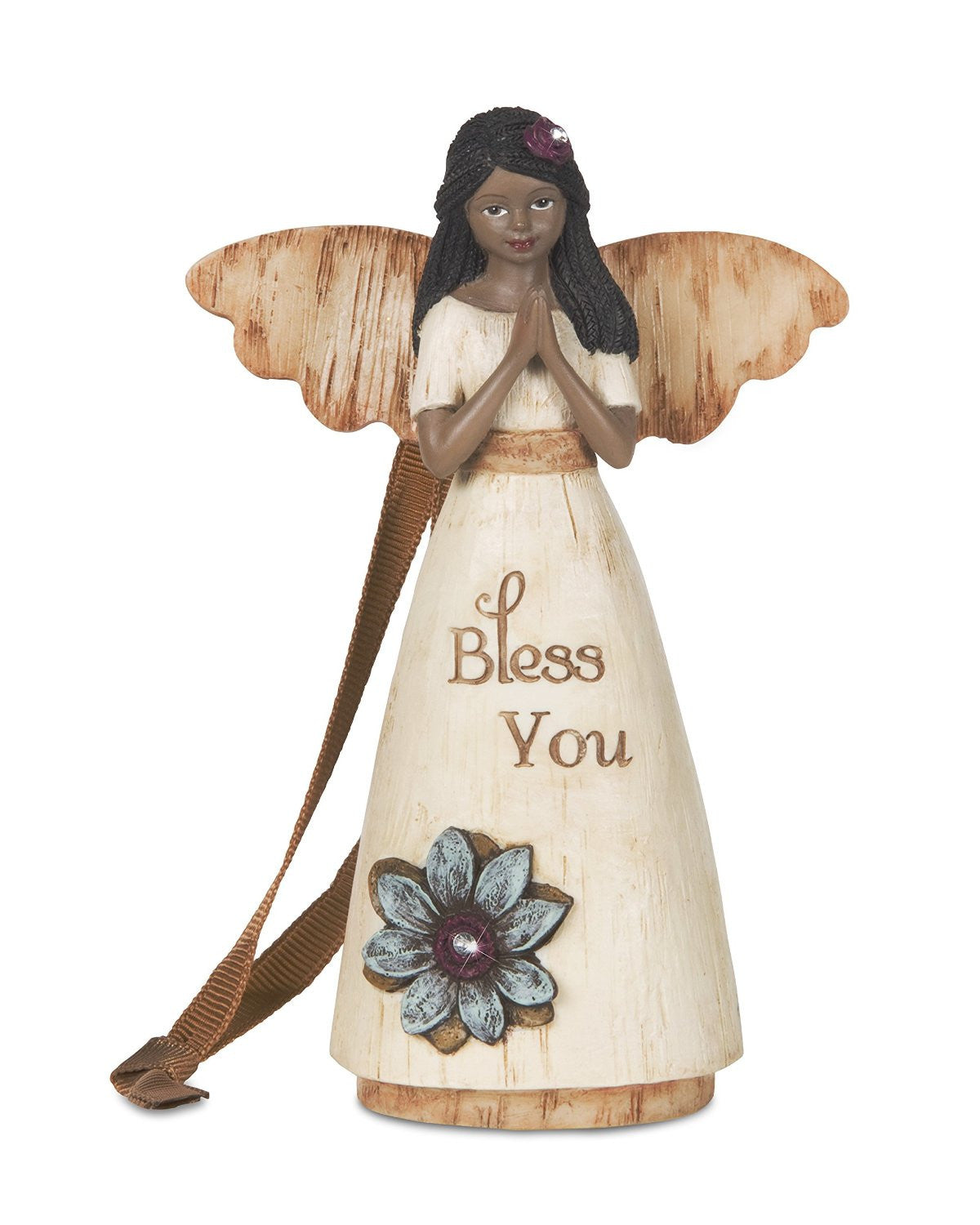 African American Bless You Angel Ornament: Simple Spirits Collection by Pavilion Gifts