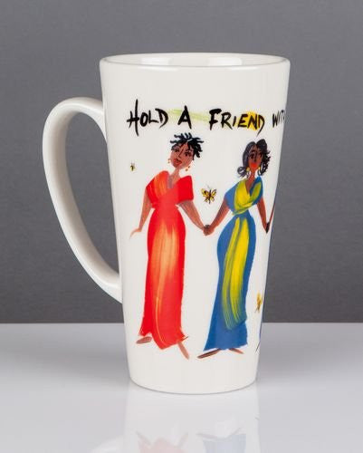 Hold A Friend With Both Hands Mug by Cidne Wallace