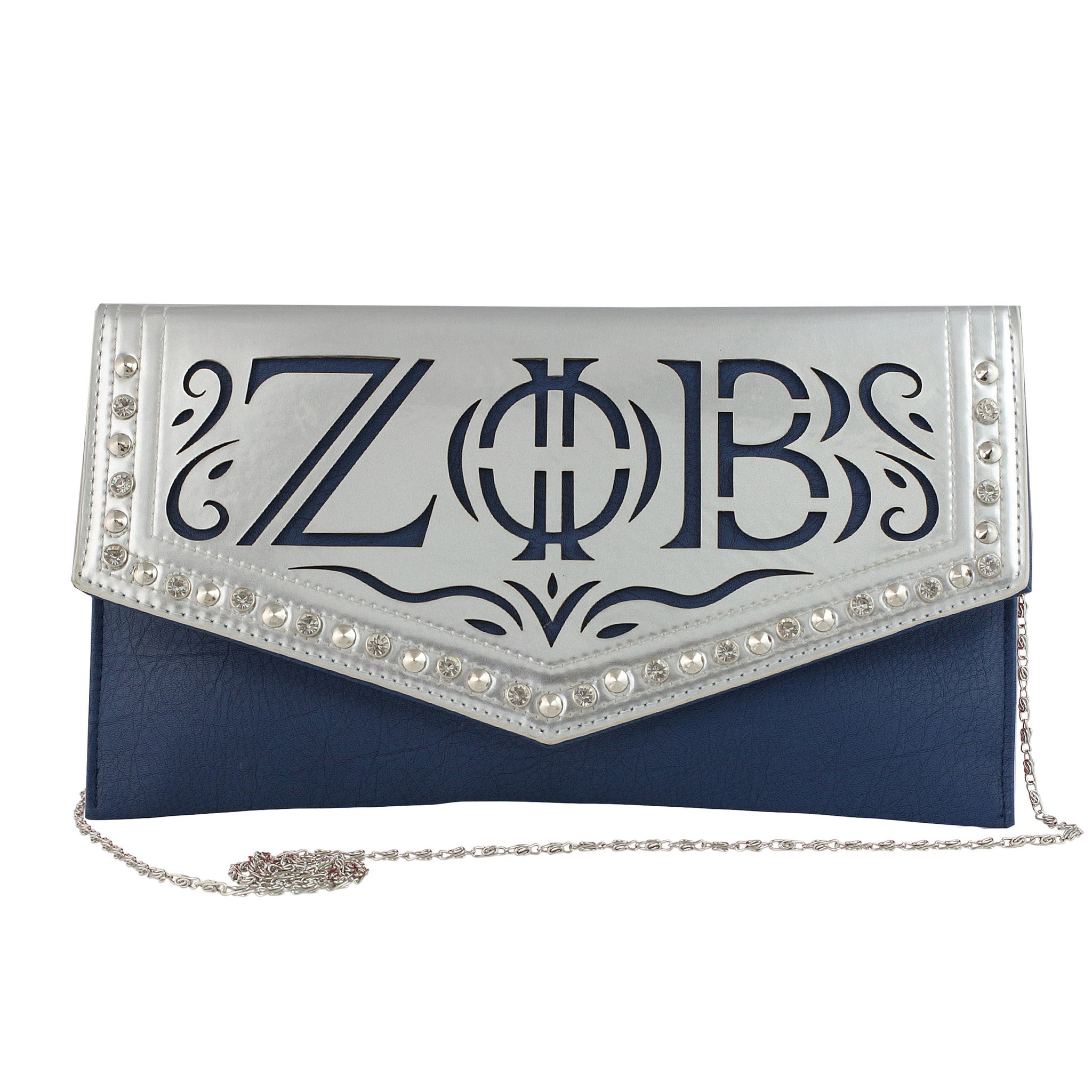 Zeta Phi Beta Faux Leather Envelope Clutch