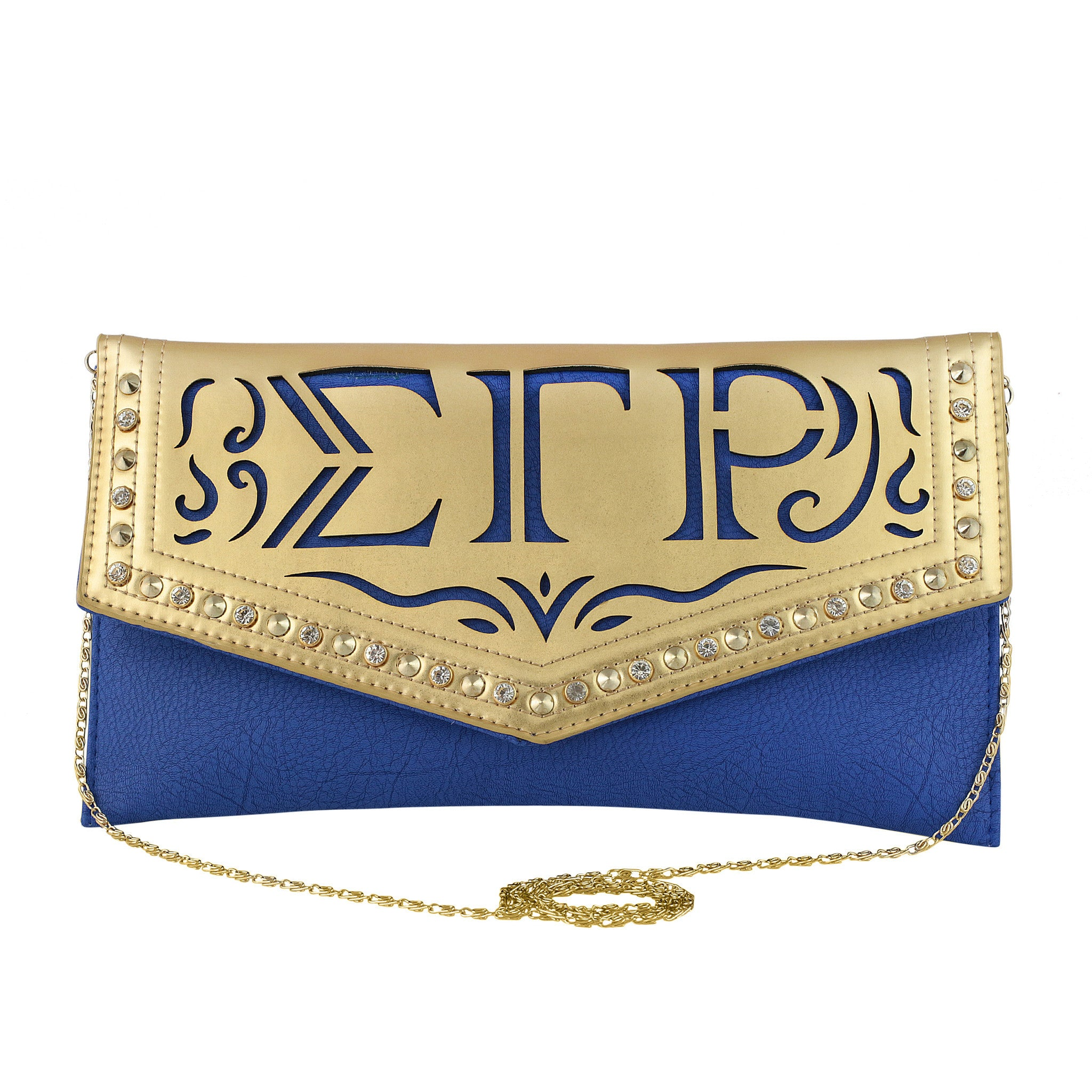 Sigma Gamma Rho Faux Leather Envelope Clutch