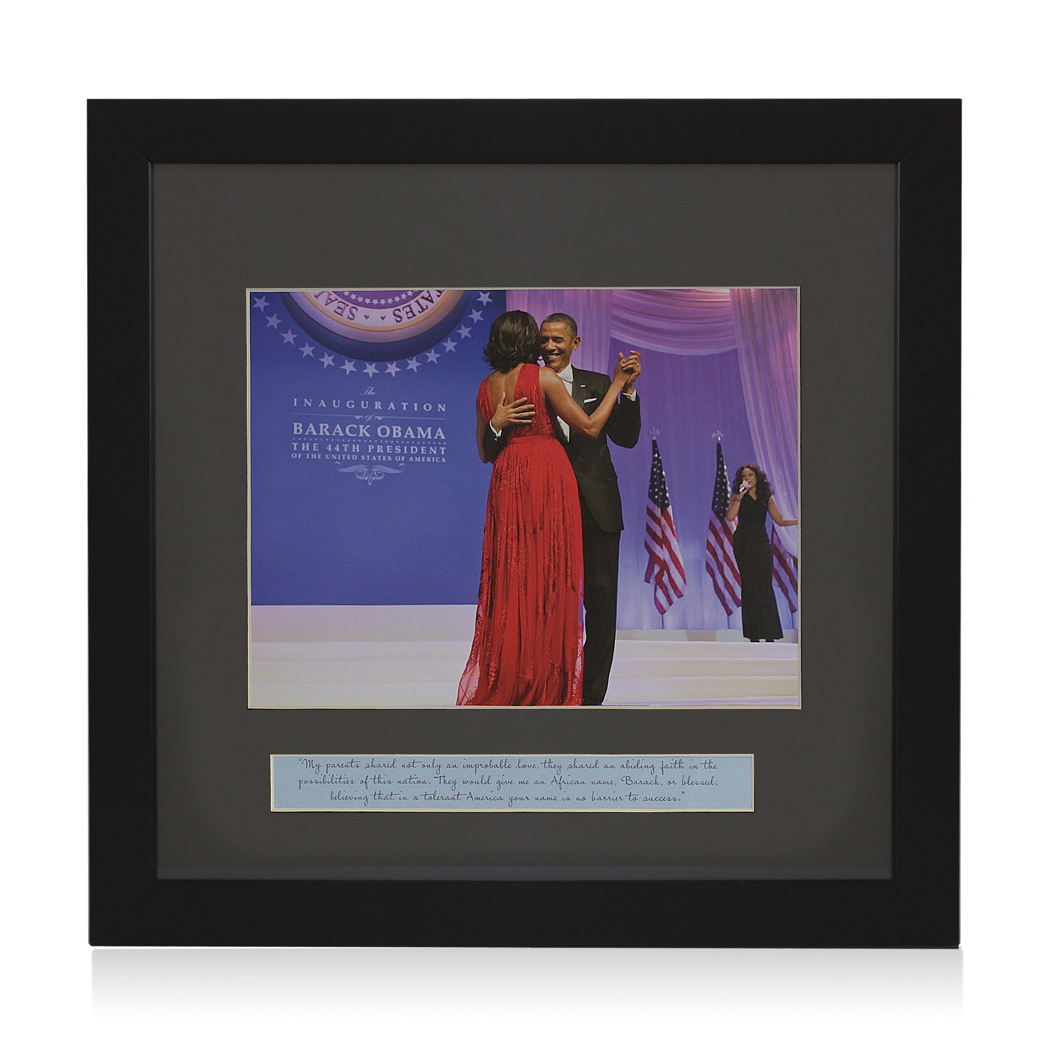 Blessed: Barack and Michelle Obama (Inaugaration Ball) Framed Artwork