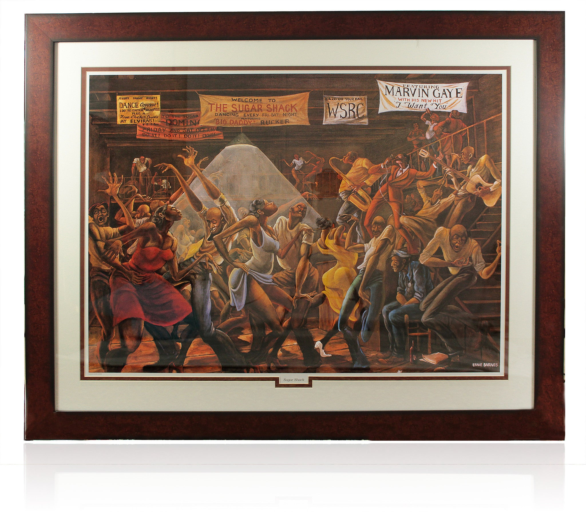 Sugar Shack by Ernie Barnes (Framed)