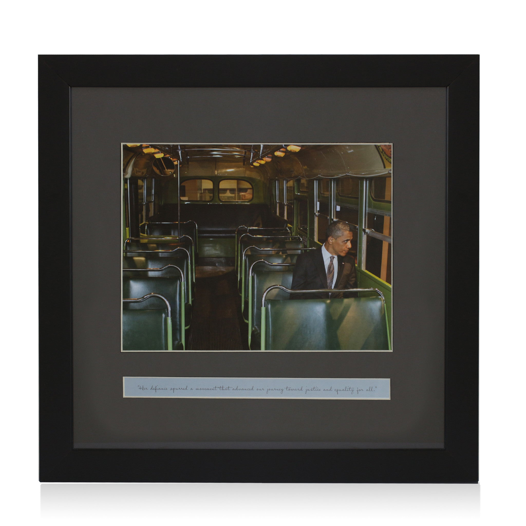 Remembering Rosa: Barack Obama (Framed Artwork)
