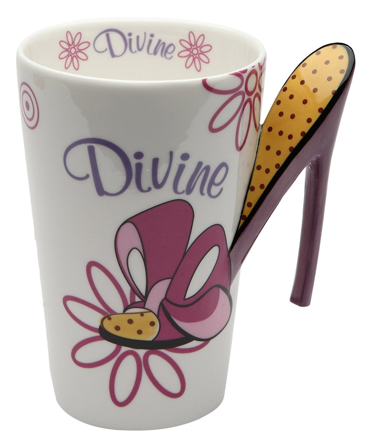 Divine Mug: Ceramic Mug with High Heel Shoe Handle by Cosmos Gifts