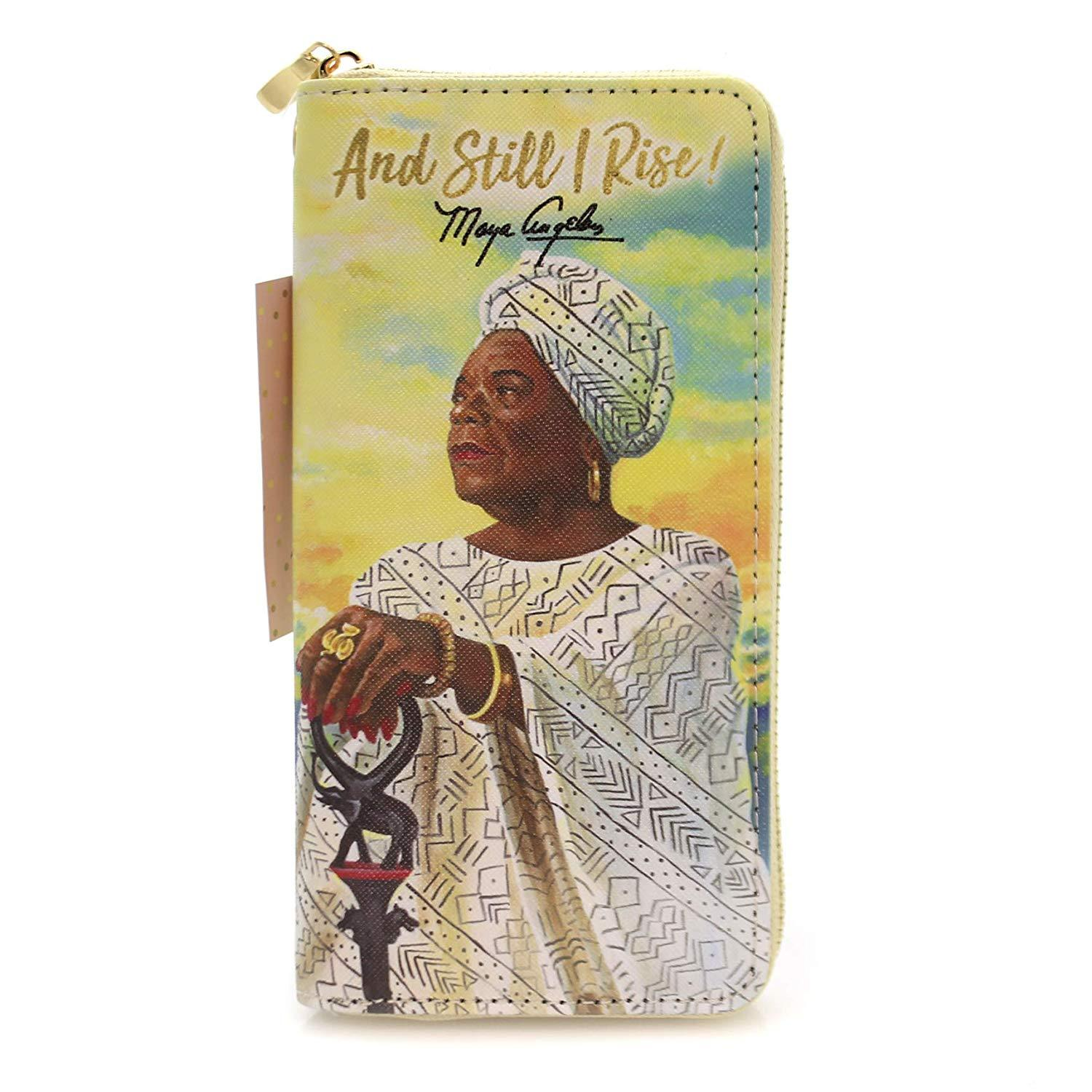 And Still I Rise (Maya Angelou): African American Women's Wallet/Clutch