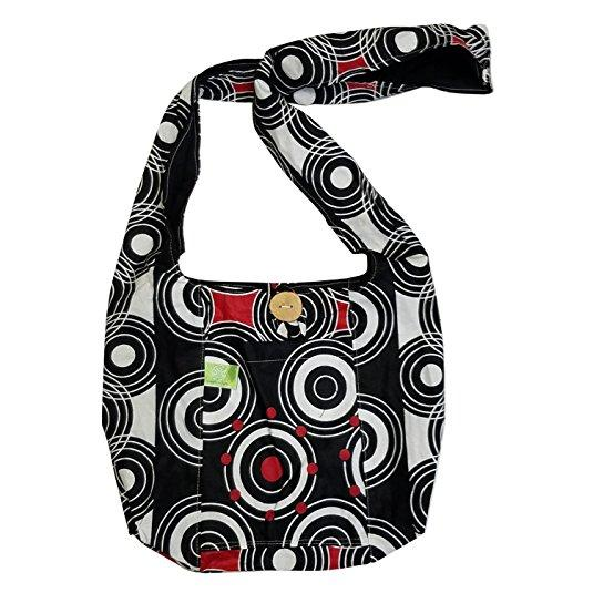 Authentic African Fabric Crossbody Sling Bag by Timbali Crafts
