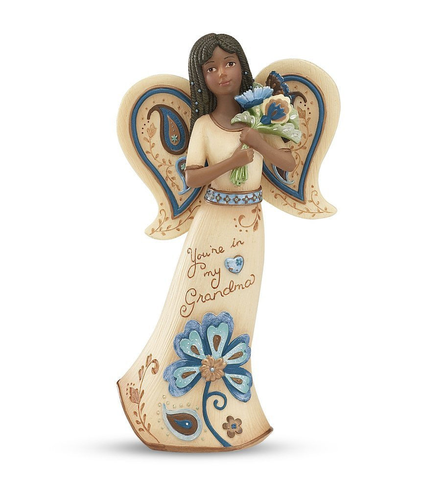 African American Grandma Angel with Flowers: Perfect Paisley Collection by Pavilion Gifts