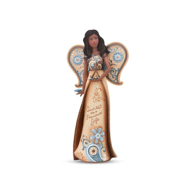 African American Aunt Angel Figurine with Butterflies: Perfect Paisley Collection by Pavilion Gifts