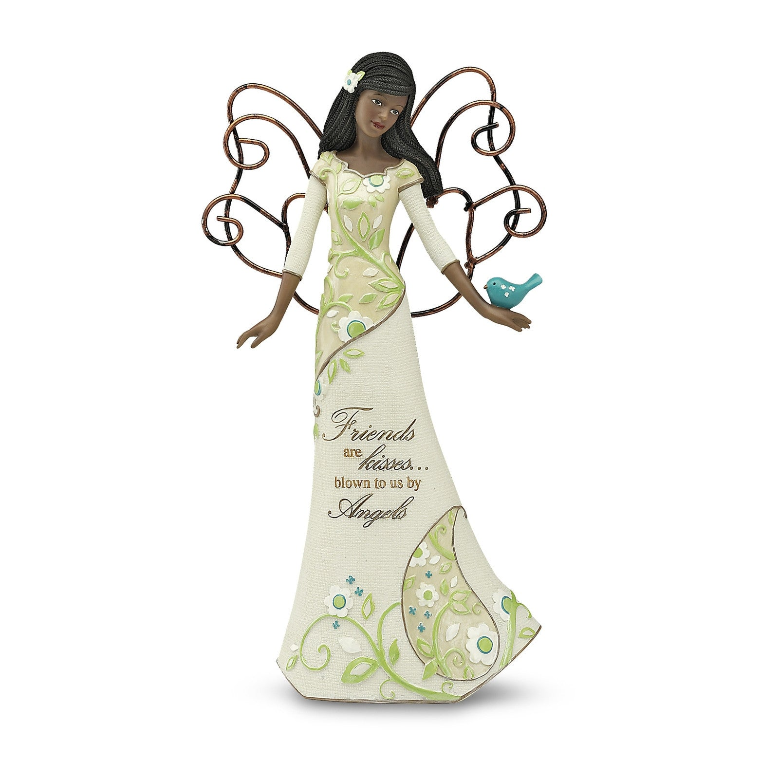 African American Friends Angel Holding Bird (Perfect Paisley Collection)