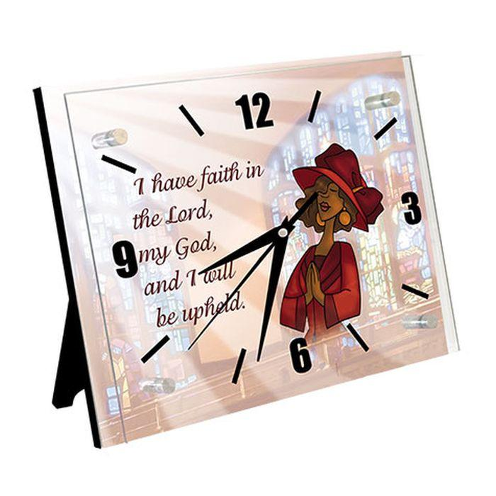 Faith in the Lord: African American Inspirational Wall/Table Clock
