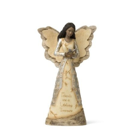 African American Friend Angel Figurine: Elements Collection by Pavilion Gifts