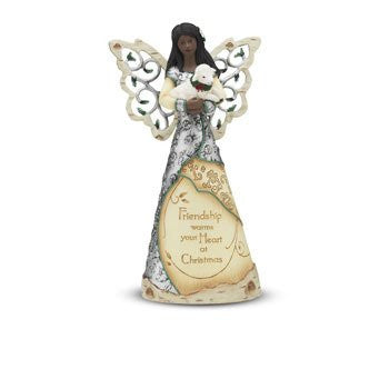 African American Friendship Angel Figurine: Elements Collection by Pavilion Gifts