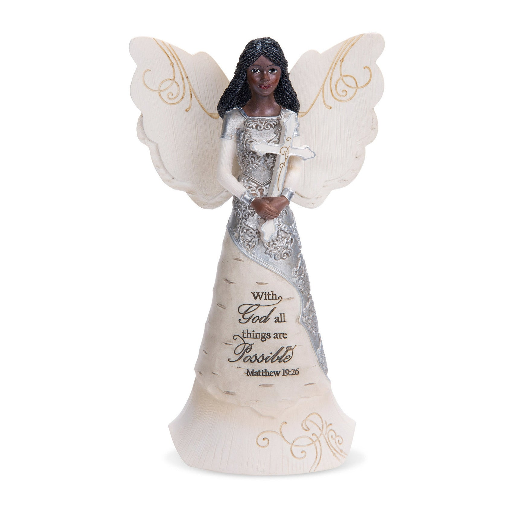 African American With God Angel (Ebony Elements Collection)