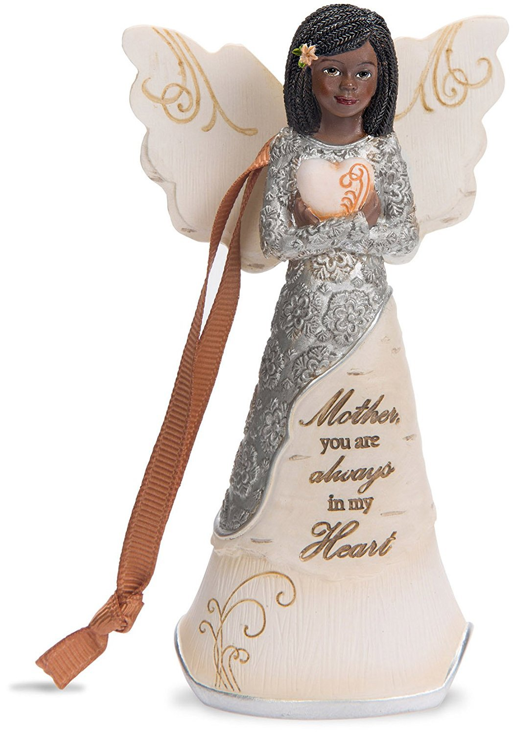 Mother You Are Always In My Heart: African American Angel Ornament (Ebony Elements Collection)