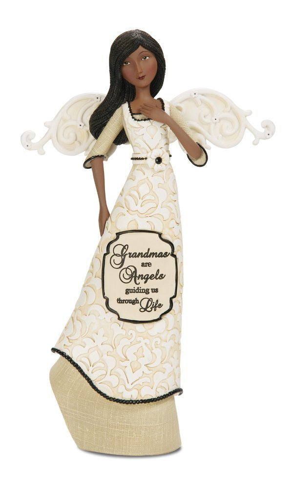 African American Grandma Angel Figurine: Modeles Collection by Pavilion Gifts