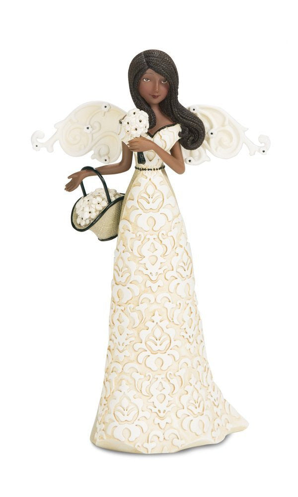 African American Joy Angel Figurine: Modeles Collecton by Pavilion Gifts