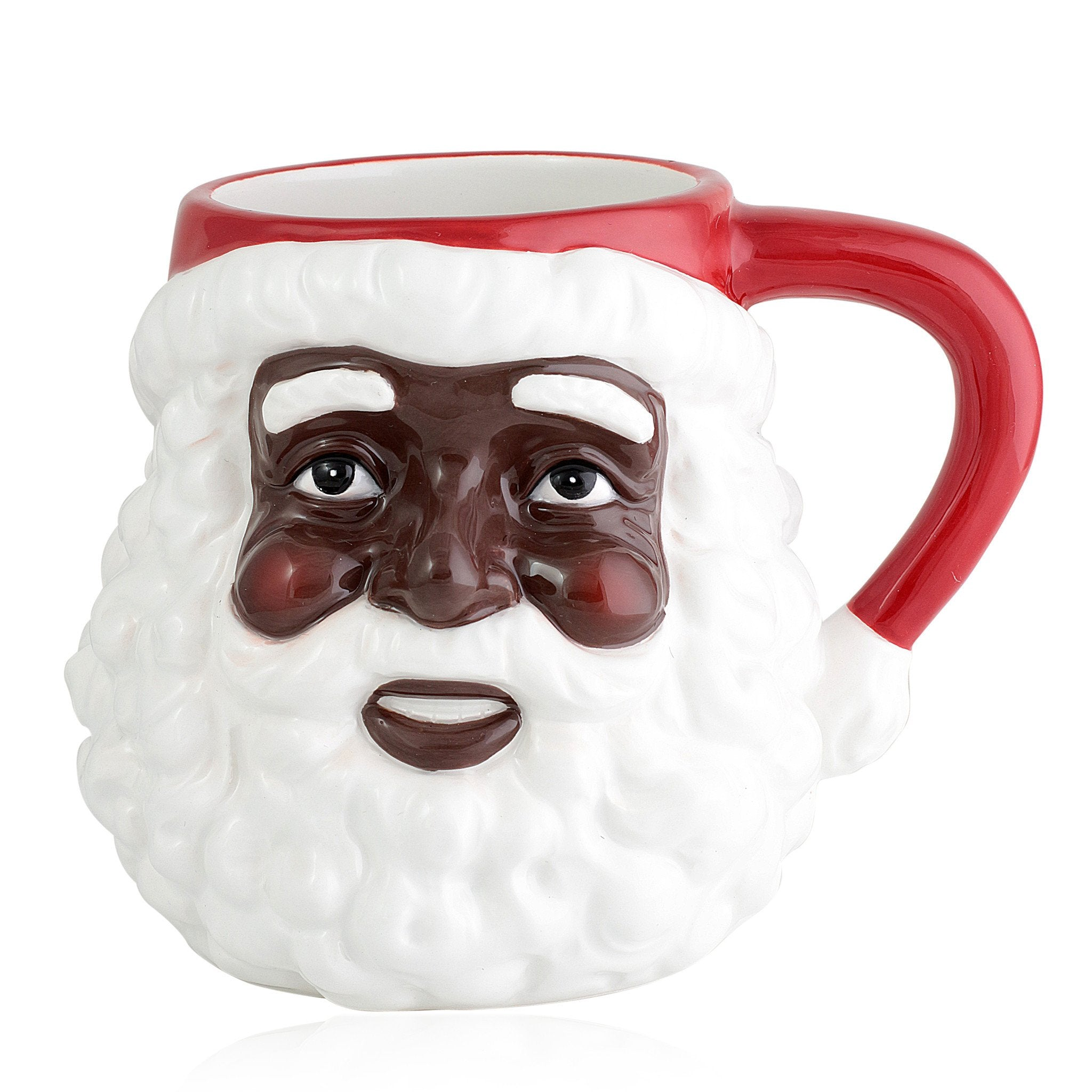 African American Santa Claus Mug by UniverSoul Gifts (Front)
