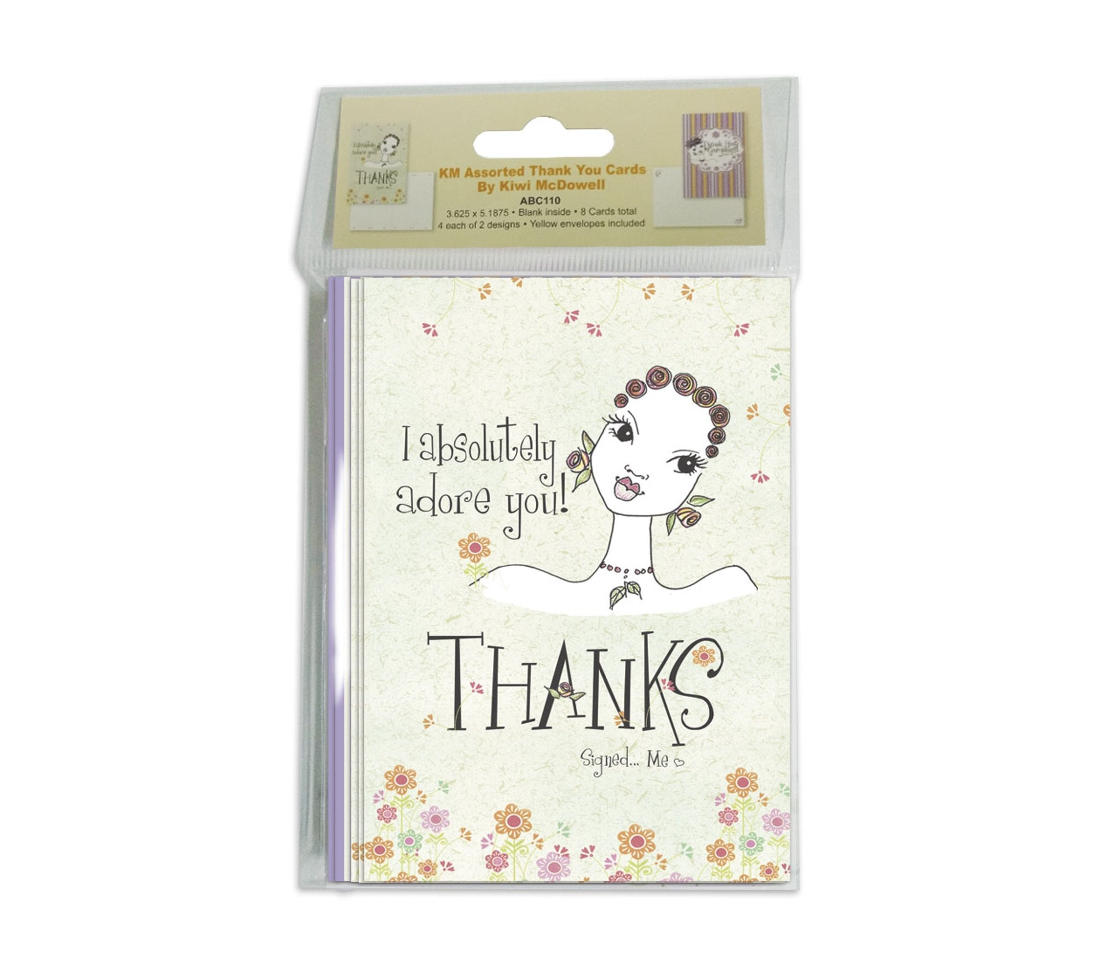 Kiwi McDowell Set: African American Thank You Cards by Shades of Color