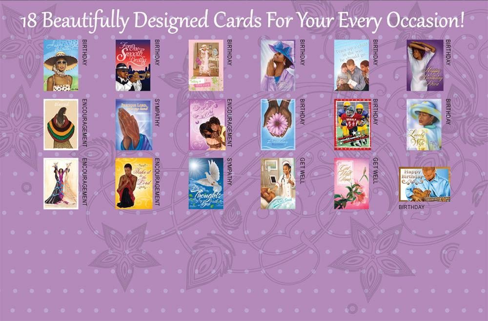 All occasion african american greeting card box set purple the all occasion african american greeting card box set by african american expressions m4hsunfo