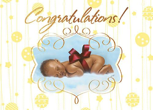 All occasion african american greeting card box set blue the congratulations african american newborn card by african american expressions m4hsunfo