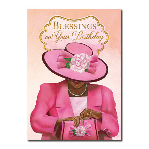 Blessings: African American Happy Birthday Greeting Card