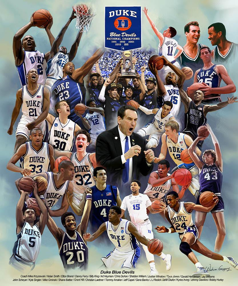 Duke Blue Devils (Revised) by Wishum Gregory