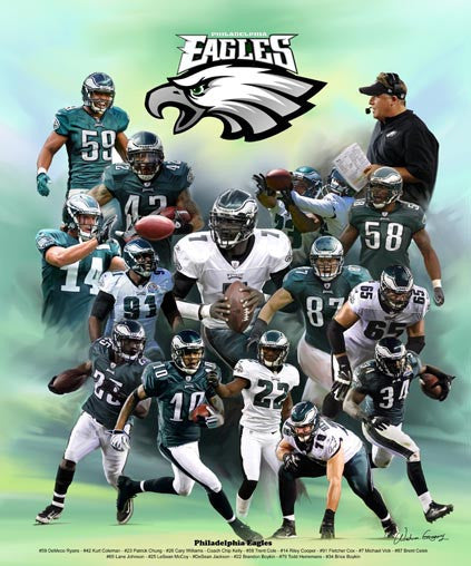 Philadelphia Eagles by Wishum Gregory