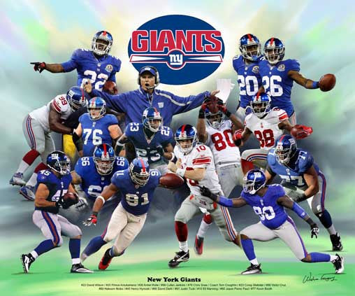 New York Giants by Wishum Gregory