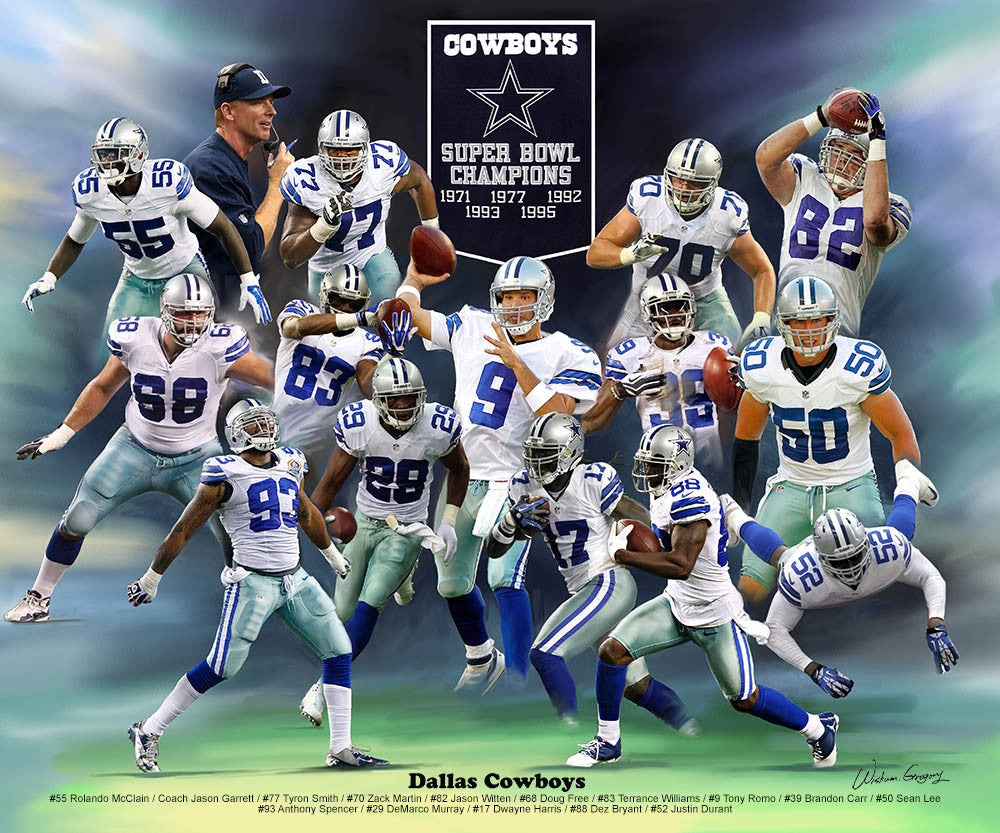 Dallas Cowboys (2014 Version) by Wishum Gregory